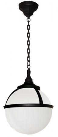 Glenbeigh Opal Globe Black Outdoor Hanging Porch Lantern