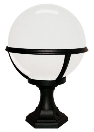 Black Opal Globe Rust Proof Outdoor Post Porch Light