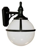 Glenbeigh Downward Facing Opal Globe Outdoor Wall Light