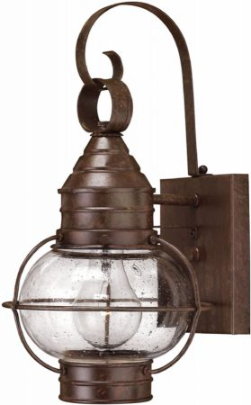 Cape Cod Small Solid Brass Bronze Finish Outdoor Wall Lantern