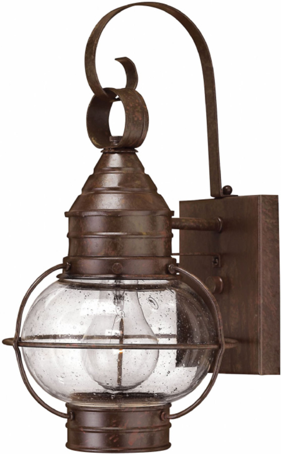 Hinkley Cape Cod Small Solid Brass Outdoor Wall Lantern Bronze