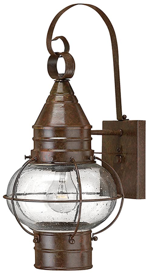 Hinkley Cape Cod Large Solid Brass Outdoor Wall Lantern Bronze