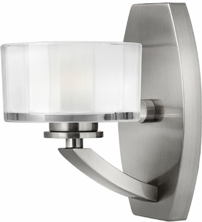 Wall Lights Nickel : Hinkley Meridian Art Deco Style Wall Light Satin Nickel MERIDIAN1