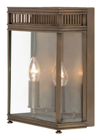 Elstead Holborn 2 Light Solid Brass Outdoor Wall Lantern Dark Bronze