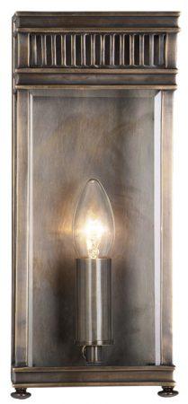 Elstead Holborn Small Solid Brass Outdoor Wall Lantern Dark Bronze