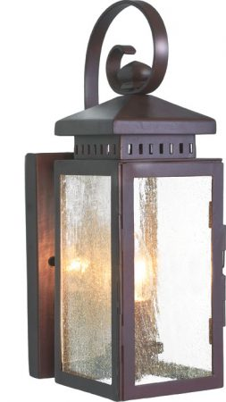 Hythe Old Bronze Wrought Iron Period Outdoor Wall Light