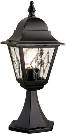 Norfolk Traditional Black Finish Leaded Post Top Light