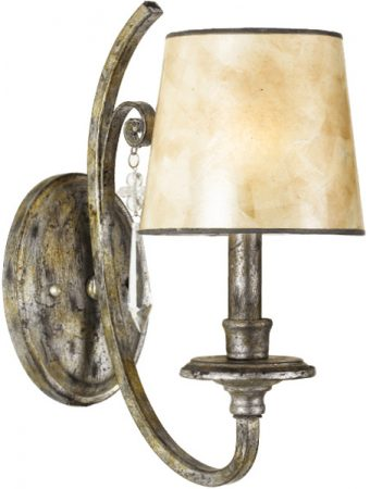 Quoizel Kendra Wrought Iron Single Wall Light Mottled Silver