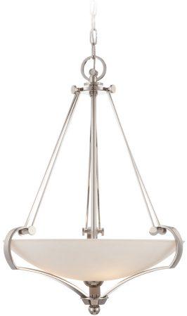 Quoizel Uptown Sutton Place Designer 4 Light Pendant Imperial Silver