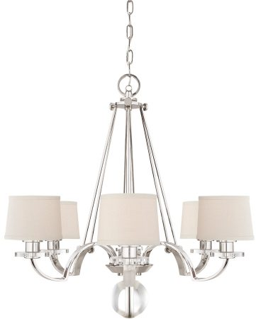 Quoizel Uptown Sutton Place 6 Light Chandelier Imperial Silver