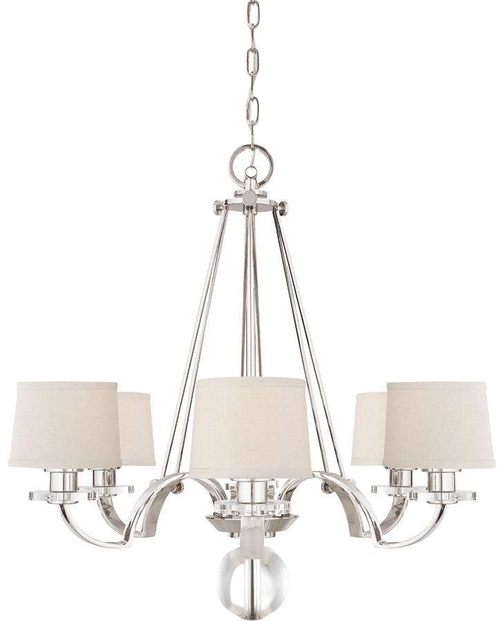 Quoizel sutton place designer 6 light chandelier imperial silver