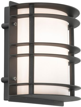 Norlys Stockholm Flush Outdoor Wall Lantern Black Opal Art Deco Style