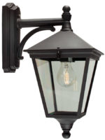 Norlys Turin Traditional Black Downward Facing Outdoor Wall Lantern