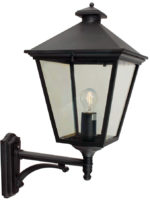 Norlys Turin Large Traditional Black Outdoor Wall Lantern Up