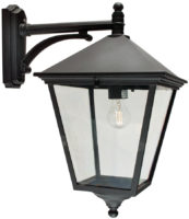 Norlys Turin Large Traditional Black Outdoor Wall Lantern Down