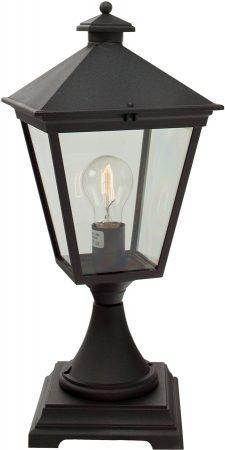 Norlys Turin Grande 1 Light Outdoor Pedestal Lantern Black