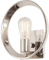 Quoizel Theater Row Single Designer Open Wall Light Silver