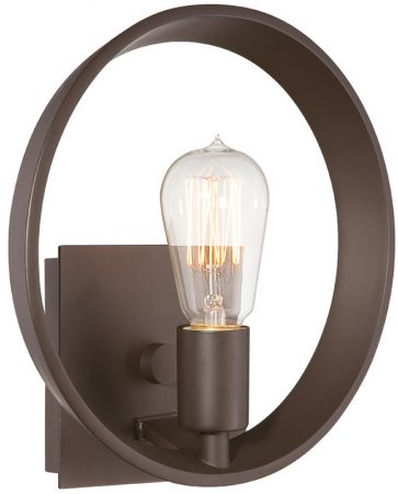 Quoizel Uptown Theater Row Single Wall Light Western Bronze