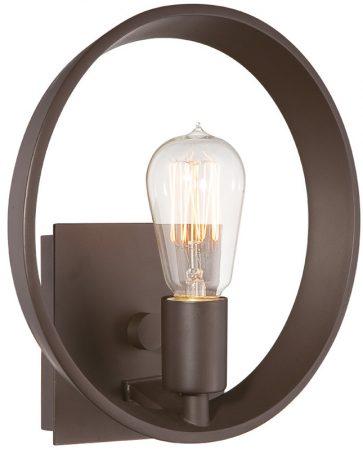 Quoizel Theater Row Single Designer Open Wall Light Bronze