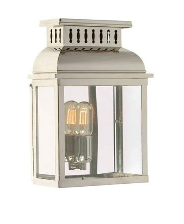 Elstead Westminster Solid Brass Outdoor Wall Lantern Polished Nickel