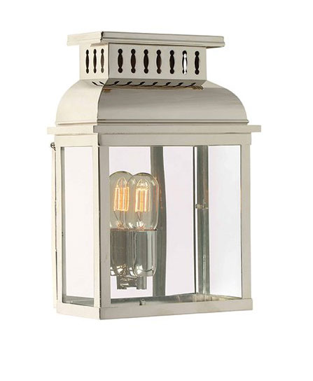 Westminster Polished Nickel Period Outdoor Wall Lantern WESTMINSTER PN