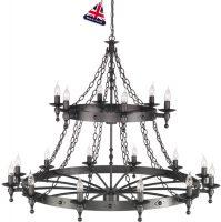 Warwick Massive Graphite Iron Work 18 Light Chandelier UK Made