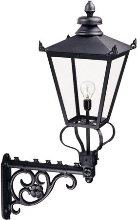 Wilmslow Large Black Victorian Outdoor Wall Lantern