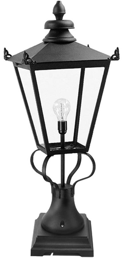Elstead Wilmslow 1 Light Large Outdoor Pedestal Lantern Black Victorian