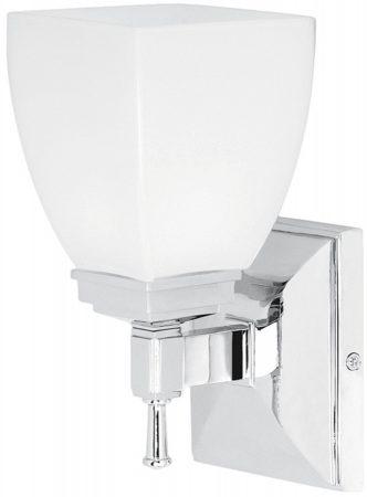 Shirebrook Art Deco Style Chrome Bathroom Wall Light UK made