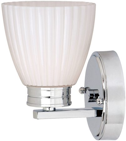 Elstead Wallingford Bathroom Single Wall Light Polished Chrome IP44