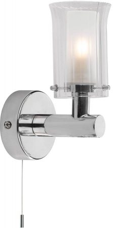 Dar Elba Switched Single Bathroom Wall Light Chrome