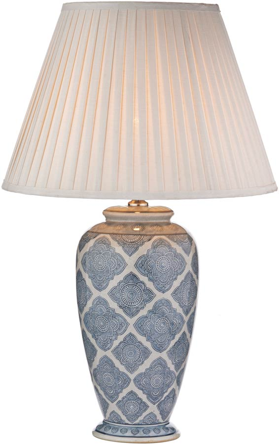 Dar ely traditional blue and cream table lamp base ely4223 dar ely traditional blue and cream table lamp base mozeypictures Image collections