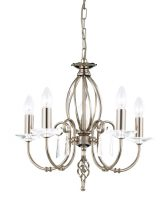 Elstead Aegean Dual Mount 5 Light Polished Nickel Chandelier