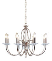 Elstead Aegean Dual Mount 8 Light Polished Nickel Chandelier