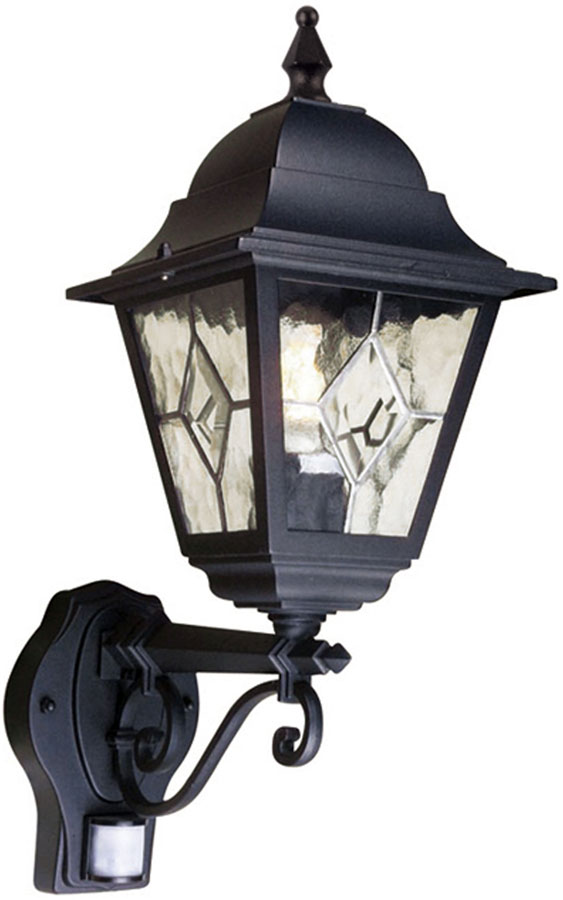 Norfolk traditional outdoor carriage lamp with pir nr1pirblk norfolk traditional outdoor carriage lamp with pir aloadofball Image collections