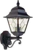 Norfolk Traditional Black Outdoor Wall Lantern Upward