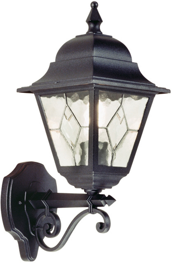 Norfolk Traditional Black Outdoor Wall Lantern Upward NR1 BLK