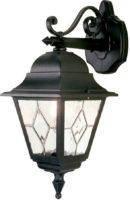 Norfolk Traditional Black Wall Mounted Outdoor Lantern