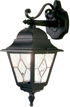 Norfolk Traditional Black Outdoor Wall Lantern Downward
