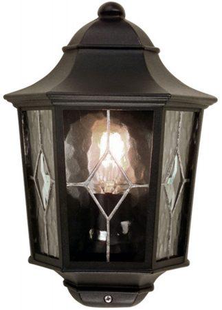 Norfolk Black Finish Traditional Outdoor Half Wall Lantern