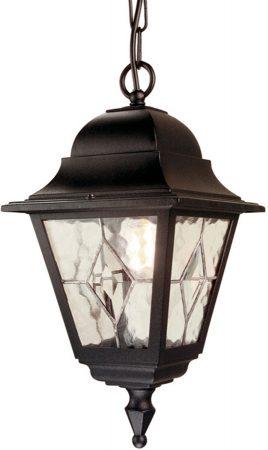 Elstead Norfolk Traditional Black Outdoor Hanging Porch Lantern