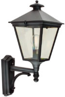 Turin Traditional Black Upward Facing Outdoor Wall Lantern