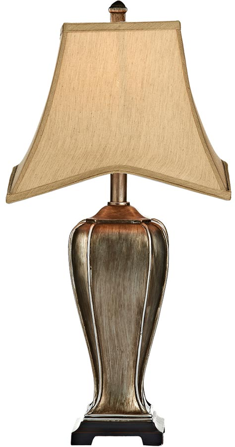 Dar Emlyn 1 Light Distressed Gold Table Lamp With Gold Shade