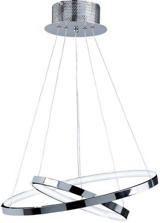 Kline Chrome 2 Ring 21w Warm White LED Pendant Light