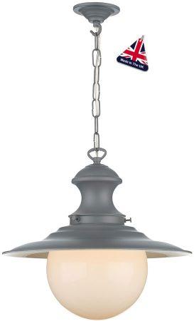 David Hunt Station Small Lead Grey Kitchen Pendant Light