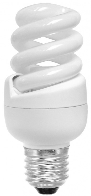 Spiral 11w E27 Warm White Flourescent Light Bulb