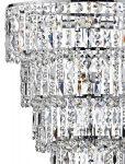 Dar Escala Modern Crystal 6 Lamp Ceiling Pendant Chrome