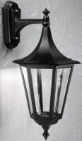 Boulevard Large Oudoor Downward Wall Lantern Black