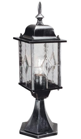 Wexford Traditional Outdoor Post Top Lantern Black & Silver