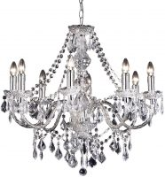Clarence Chrome Marie Therese 8 Light Chandelier With Clear Drops